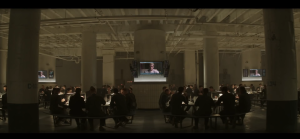 The dystopian dining hall of the resistance